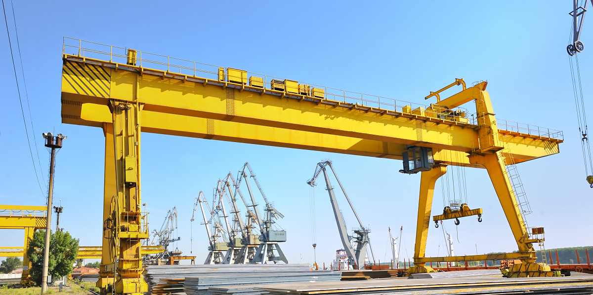 steel stack in harbor